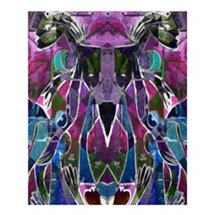 Sly Dog Modern Grunge Style Blue Pink Violet Shower Curtain 60  X 72  (medium)  by EDDArt