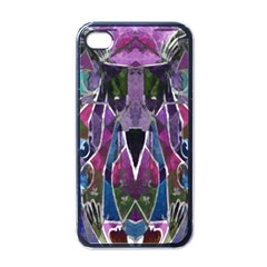 Sly Dog Modern Grunge Style Blue Pink Violet Apple Iphone 4 Case (black) by EDDArt