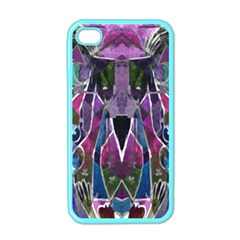 Sly Dog Modern Grunge Style Blue Pink Violet Apple Iphone 4 Case (color) by EDDArt