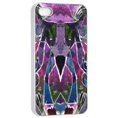 Sly Dog Modern Grunge Style Blue Pink Violet Apple Iphone 4/4s Seamless Case (white) by EDDArt