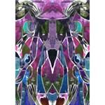 Sly Dog Modern Grunge Style Blue Pink Violet Apple 3D Greeting Card (7x5) Inside