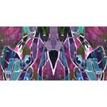 Sly Dog Modern Grunge Style Blue Pink Violet BEST SIS 3D Greeting Card (8x4) Back