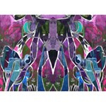 Sly Dog Modern Grunge Style Blue Pink Violet THANK YOU 3D Greeting Card (7x5) Back