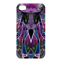 Sly Dog Modern Grunge Style Blue Pink Violet Apple Iphone 4/4s Premium Hardshell Case by EDDArt
