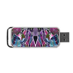 Sly Dog Modern Grunge Style Blue Pink Violet Portable Usb Flash (one Side) by EDDArt