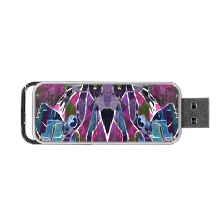 Sly Dog Modern Grunge Style Blue Pink Violet Portable USB Flash (Two Sides)