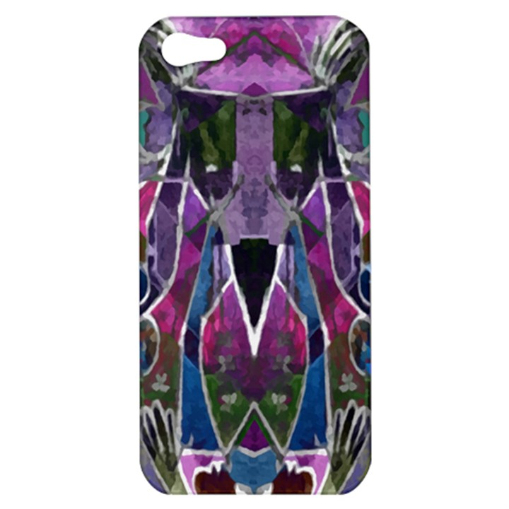 Sly Dog Modern Grunge Style Blue Pink Violet Apple iPhone 5 Hardshell Case