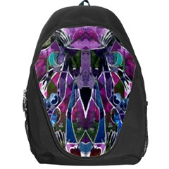 Sly Dog Modern Grunge Style Blue Pink Violet Backpack Bag by EDDArt