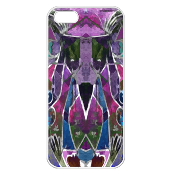 Sly Dog Modern Grunge Style Blue Pink Violet Apple iPhone 5 Seamless Case (White)