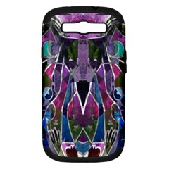 Sly Dog Modern Grunge Style Blue Pink Violet Samsung Galaxy S Iii Hardshell Case (pc+silicone) by EDDArt