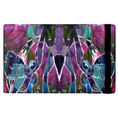Sly Dog Modern Grunge Style Blue Pink Violet Apple Ipad 2 Flip Case by EDDArt