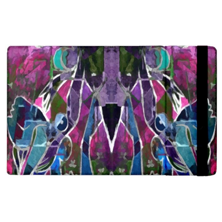 Sly Dog Modern Grunge Style Blue Pink Violet Apple iPad 3/4 Flip Case