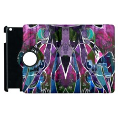 Sly Dog Modern Grunge Style Blue Pink Violet Apple Ipad 2 Flip 360 Case by EDDArt