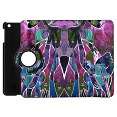 Sly Dog Modern Grunge Style Blue Pink Violet Apple Ipad Mini Flip 360 Case by EDDArt