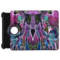 Sly Dog Modern Grunge Style Blue Pink Violet Kindle Fire Hd Flip 360 Case