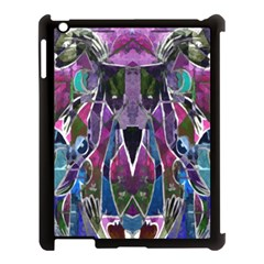 Sly Dog Modern Grunge Style Blue Pink Violet Apple Ipad 3/4 Case (black) by EDDArt