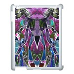 Sly Dog Modern Grunge Style Blue Pink Violet Apple iPad 3/4 Case (White) Front