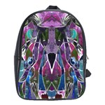 Sly Dog Modern Grunge Style Blue Pink Violet School Bags (XL)  Front