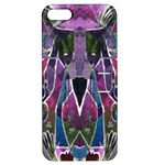 Sly Dog Modern Grunge Style Blue Pink Violet Apple iPhone 5 Hardshell Case with Stand
