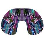 Sly Dog Modern Grunge Style Blue Pink Violet Travel Neck Pillows