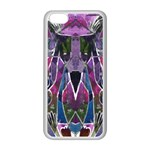 Sly Dog Modern Grunge Style Blue Pink Violet Apple iPhone 5C Seamless Case (White) Front
