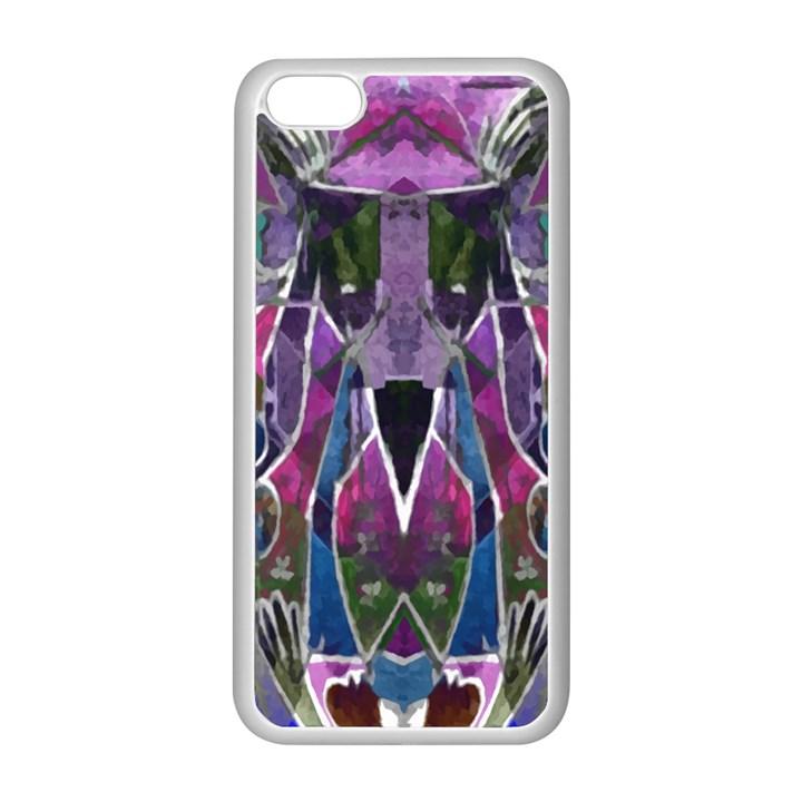 Sly Dog Modern Grunge Style Blue Pink Violet Apple iPhone 5C Seamless Case (White)