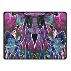 Sly Dog Modern Grunge Style Blue Pink Violet Double Sided Fleece Blanket (small)