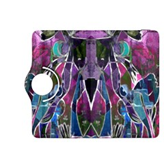 Sly Dog Modern Grunge Style Blue Pink Violet Kindle Fire Hdx 8 9  Flip 360 Case by EDDArt