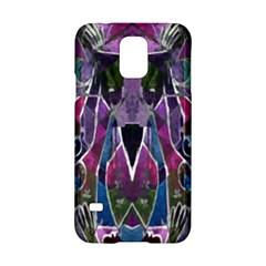 Sly Dog Modern Grunge Style Blue Pink Violet Samsung Galaxy S5 Hardshell Case  by EDDArt