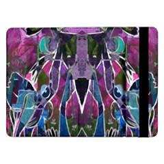 Sly Dog Modern Grunge Style Blue Pink Violet Samsung Galaxy Tab Pro 12 2  Flip Case