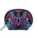 Sly Dog Modern Grunge Style Blue Pink Violet Accessory Pouches (Small)  Front