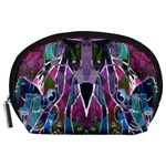 Sly Dog Modern Grunge Style Blue Pink Violet Accessory Pouches (Large)