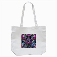 Sly Dog Modern Grunge Style Blue Pink Violet Tote Bag (white)