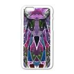 Sly Dog Modern Grunge Style Blue Pink Violet Apple iPhone 6/6S White Enamel Case Front