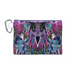 Sly Dog Modern Grunge Style Blue Pink Violet Canvas Cosmetic Bag (M)