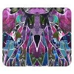 Sly Dog Modern Grunge Style Blue Pink Violet Double Sided Flano Blanket (Small)  50 x40 Blanket Front