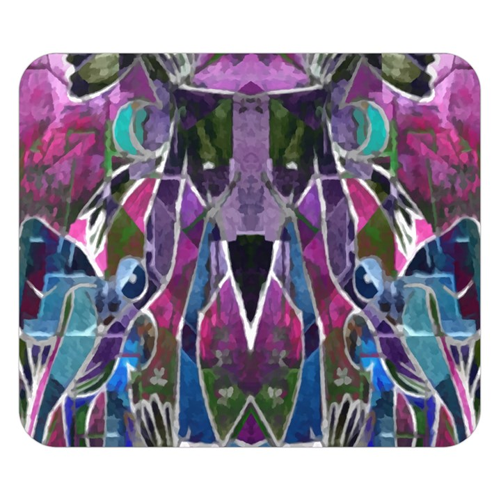 Sly Dog Modern Grunge Style Blue Pink Violet Double Sided Flano Blanket (Small)