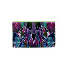 Sly Dog Modern Grunge Style Blue Pink Violet Cosmetic Bag (xs) by EDDArt