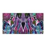 Sly Dog Modern Grunge Style Blue Pink Violet Satin Wrap Front