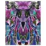 Sly Dog Modern Grunge Style Blue Pink Violet Drawstring Bag (Small) Back