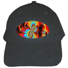 Crazy Mandelbrot Fractal Red Yellow Turquoise Black Cap