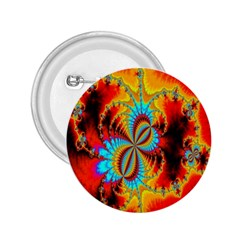 Crazy Mandelbrot Fractal Red Yellow Turquoise 2 25  Buttons by EDDArt