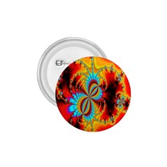 Crazy Mandelbrot Fractal Red Yellow Turquoise 1 75  Buttons by EDDArt