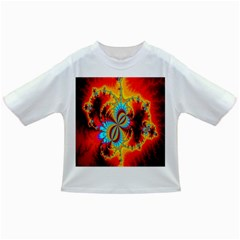 Crazy Mandelbrot Fractal Red Yellow Turquoise Infant/toddler T Shirts by EDDArt