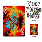 Crazy Mandelbrot Fractal Red Yellow Turquoise Playing Cards 54 Designs  Front - DiamondK