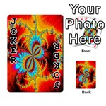 Crazy Mandelbrot Fractal Red Yellow Turquoise Playing Cards 54 Designs  Front - Joker1
