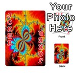 Crazy Mandelbrot Fractal Red Yellow Turquoise Playing Cards 54 Designs  Front - Joker2