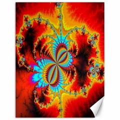 Crazy Mandelbrot Fractal Red Yellow Turquoise Canvas 12  X 16   by EDDArt