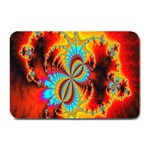 Crazy Mandelbrot Fractal Red Yellow Turquoise Plate Mats 18 x12 Plate Mat - 1