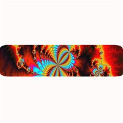 Crazy Mandelbrot Fractal Red Yellow Turquoise Large Bar Mats by EDDArt
